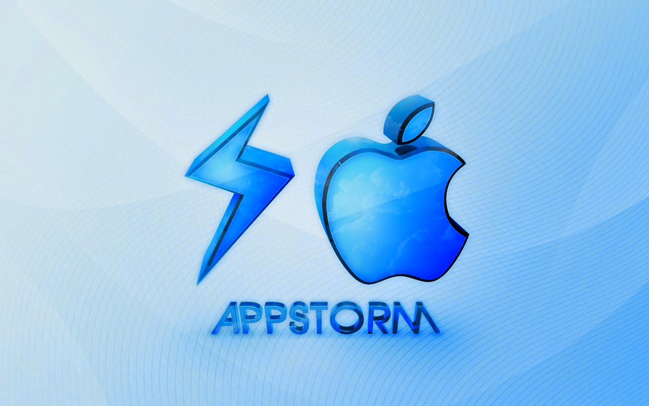 Blauen abstrakten Apple wallpaper