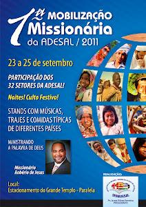 1ª Mobilização Missionária da Semadesal Acontecerá de 23 a 25 de Setembro