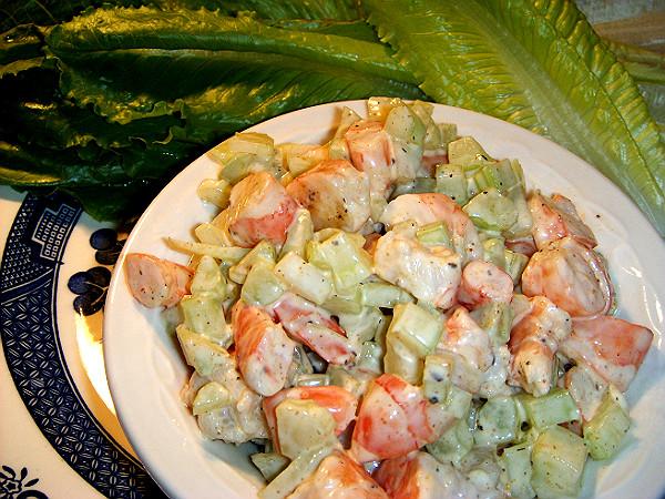 how to make shrimp salad with lettuce