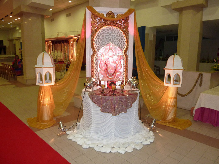 Imgs for ganpati decoration ideas for home with thermocol for Ganapati decorations home