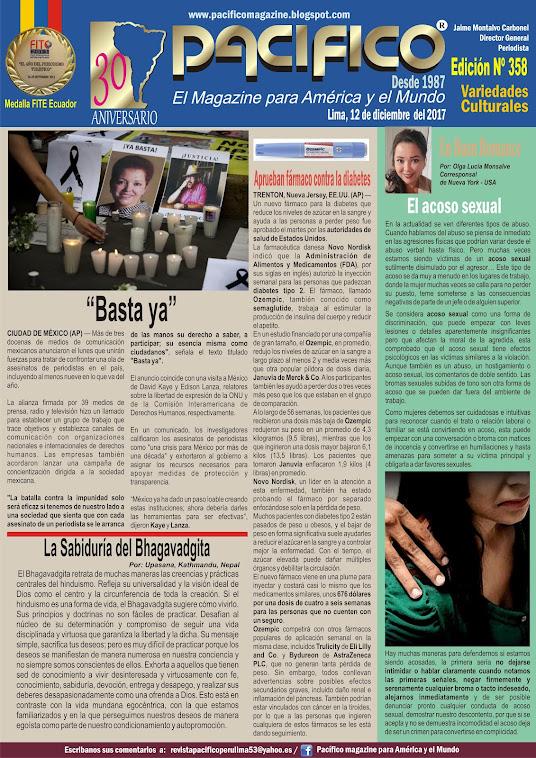 Revista Pacifico Nº 358 Variedades Culturales