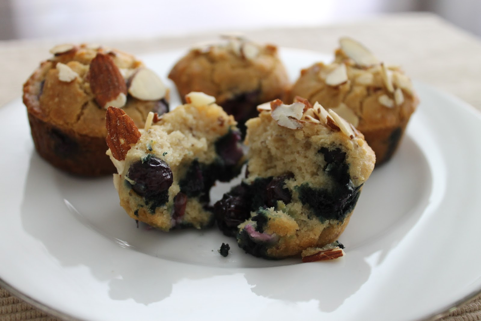 Eat Plants, Feel Good: Happy Morning Blueberry Almond Muffins