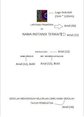 Contoh Cover Laporan Prakerin/Jurnal SMK
