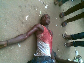Graphic photos: Pro-biafran protester shot dead in Anambra