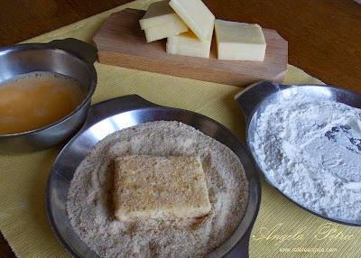 Preparare cascaval pane- etapa 2