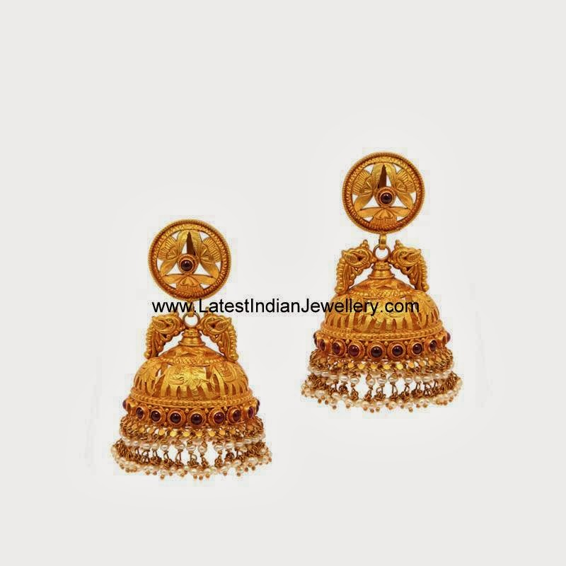 Beautiful Gold Jhumka Earrings