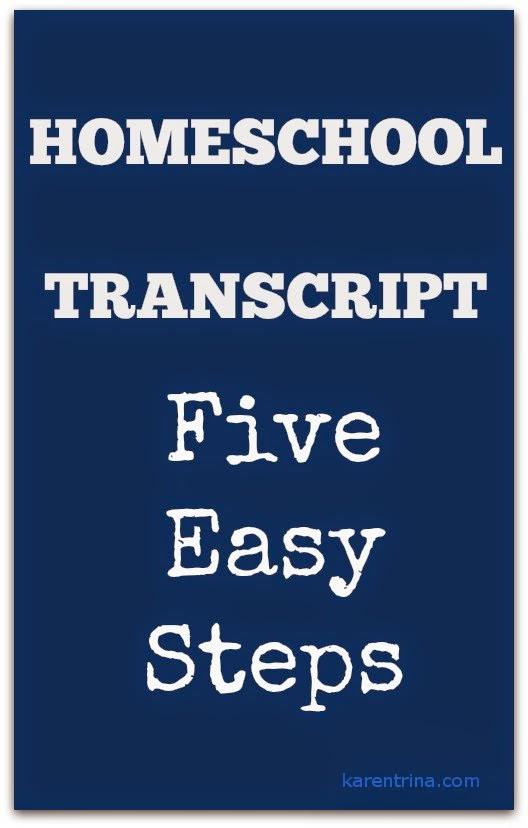 Homeschool transcript 5 easy steps