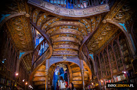 Księgarnia Livraria Lello e Irmao w Porto Portugalia Najpiękniejsza Księgarnia Zdjęcie Fotografie Przewodnik Opis Foto