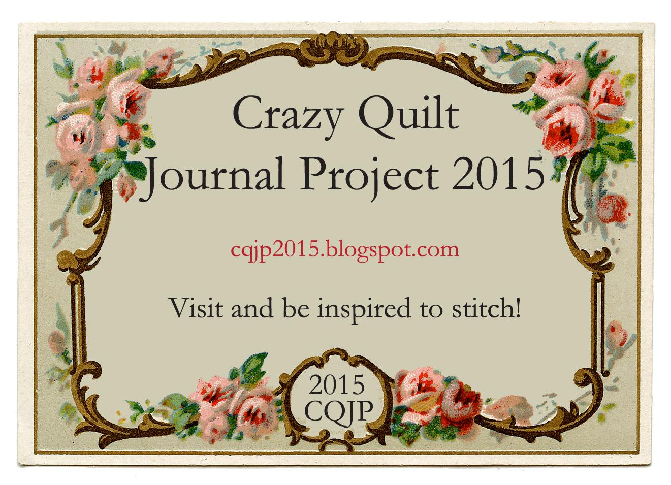 Crazy Quilt Journal Project 2015