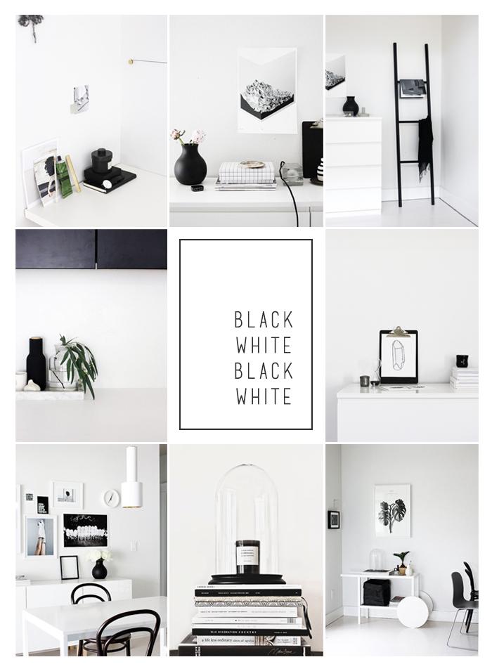 Moodboard inspiration interior black and white