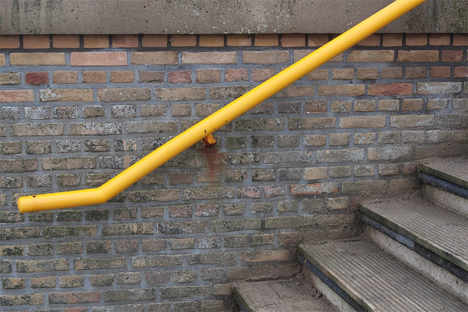 yellow handrail I