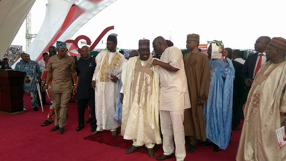 Photos: Gov. Fayose And Ali Modu Sheriff Pictured At Wike's Thanksgiving Service