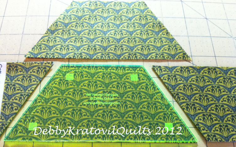 Hexagon Quilting Templates   Debby Kratovil Quilts More Joys Of Hex Twisted Hexagons