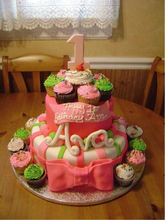 Lindos Modelos De Tortas Con Cupcakes Fiestas Infantiles Decoracion ...