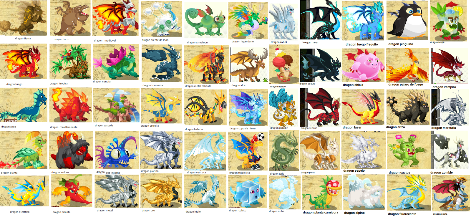 Credits: Dragon City Breeding and Hatching List by DragonTamerXD