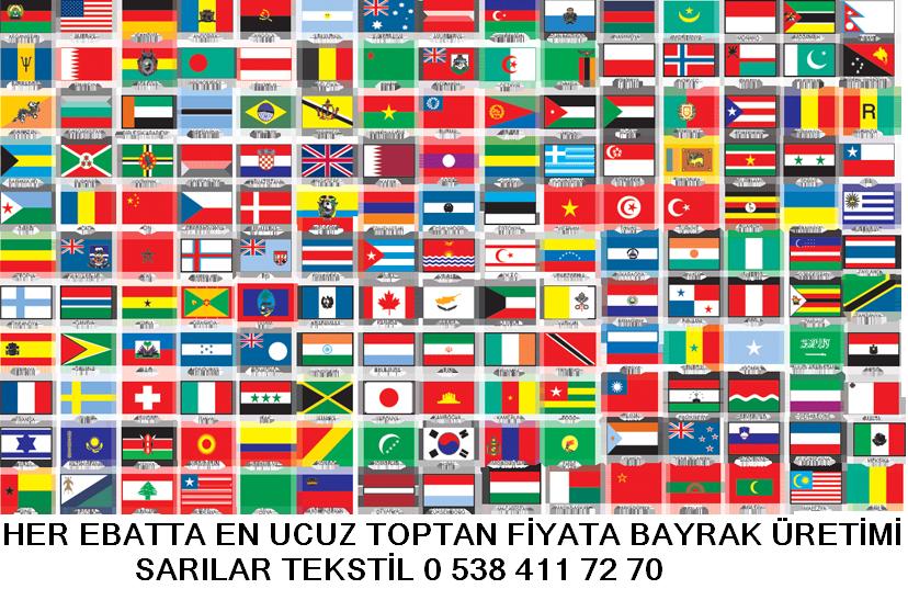 Türk bayrağı ve yabancı ülke bayrakları imalatı yapan tekstil