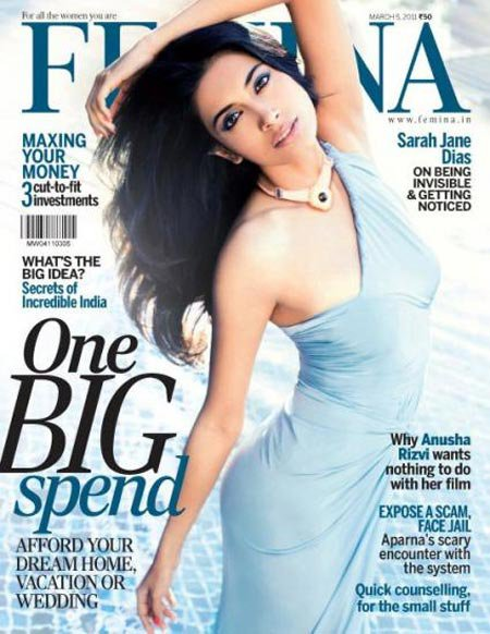 Miss India 2008 Sarah Jane Dias at Femina Magazine Cover - March 2011