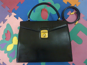 Salvatore Ferragamo Black Kelly Handbag(SOLD)