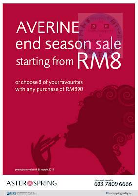 Averine End Season Sale Till 31 MAR 2012