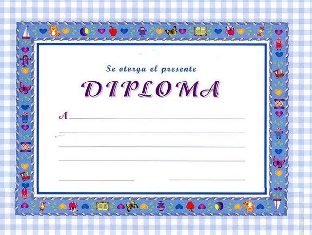 Maestra Asunción: Diplomas...Marcos y Bordes.