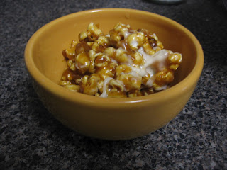 Cream Cheese-Chile Powder Caramel Popcorn