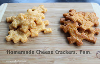 Homemade Cheese Crackers from Another Lunch