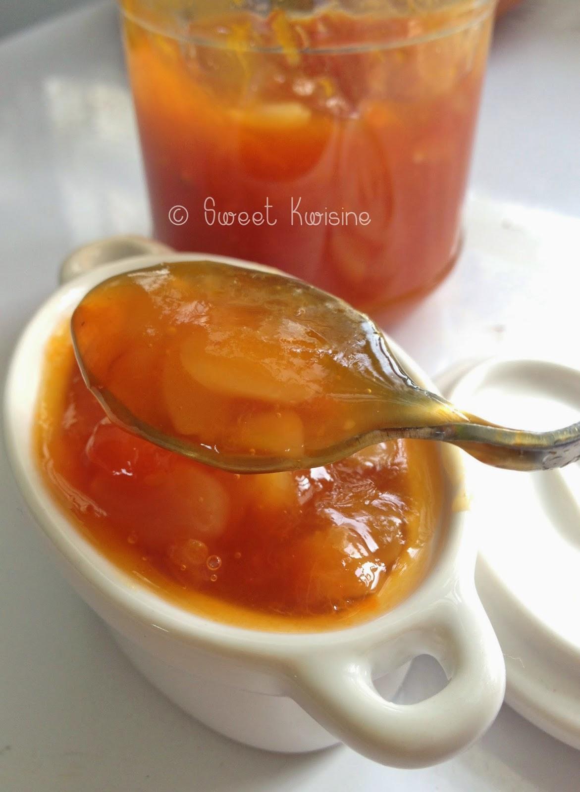 sweet kwisine, confiture, abricots, amandes, jam, végétarien, sucre roux