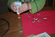 toddlers, glue, eyes, craft,