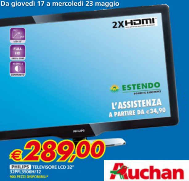 equatech tv lcd 32 full hd philips a 289 da auchan. Black Bedroom Furniture Sets. Home Design Ideas