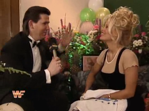 WWF / WWE: Royal Rumble - Todd Pettengill interviews Pamela Anderson