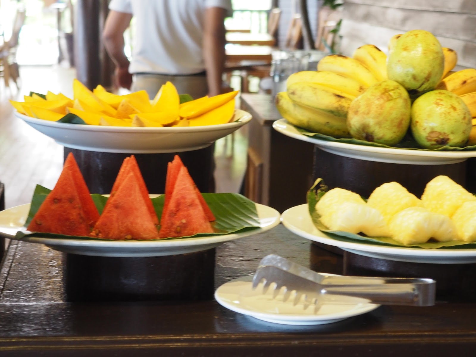 delicious fruit on a buffet table, minaloc island, el nido