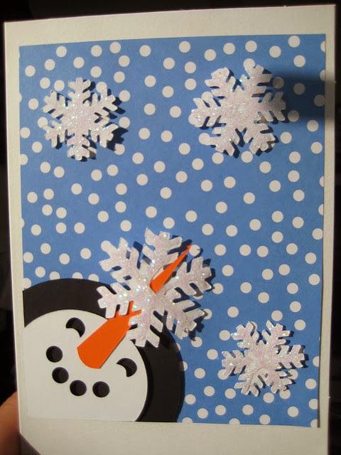 Wonderland handmade christmas card ideas for Handmade snowman christmas cards