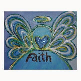 Faith Angel Art Poster Print