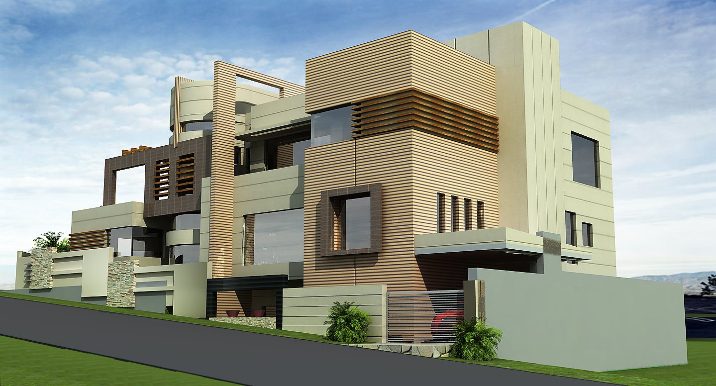 Front Elevation Of Three Storied Houses : D front elevation kanal house