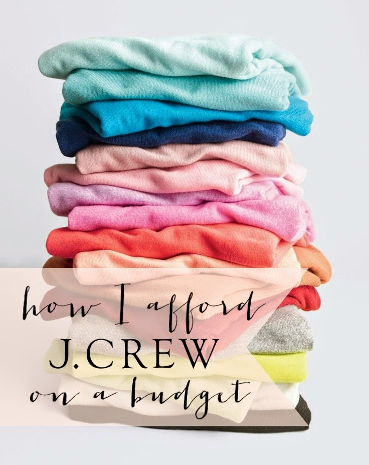 7 great tips for affording J.Crew on a budget.
