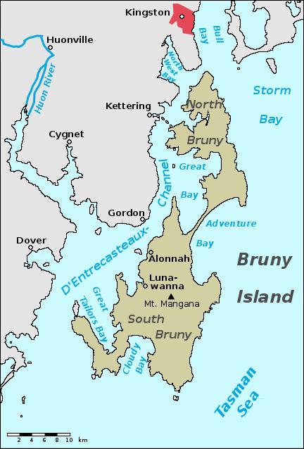 Bruny Island Ferry Map