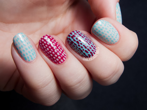 quick and simple scaled nail art
