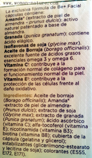 Be+ facial cápsulas ingredientes