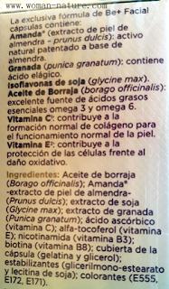 Be+ facial cápsulas ingredientes