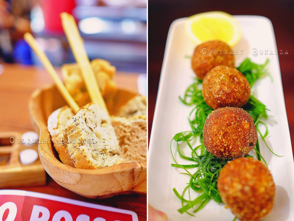 Bread Basket and Arancini Balls