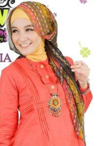 Clover Clothing Pashmina Tribal - Yellow (Toko Jilbab dan Busana Muslimah Terbaru)