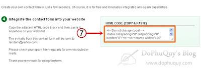 tạo trang liên hệ miễn phí cho website blogspot
