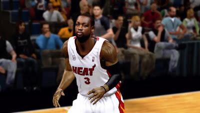 NBA 2K13 Dwayne Wade Cyber Face Patch