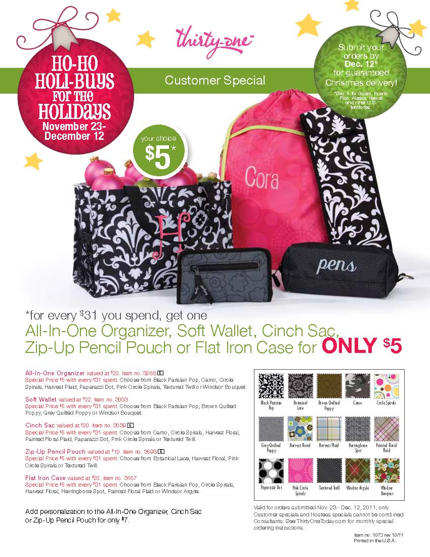 Thirty-One Fundraiser!