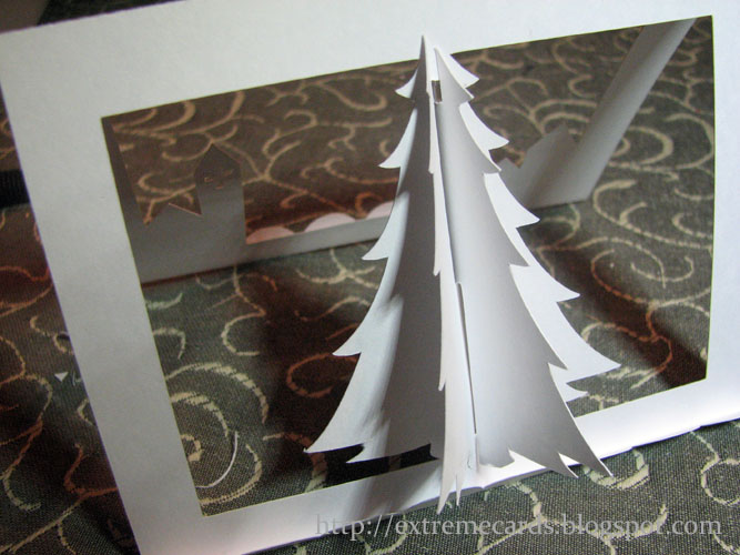 Extreme Cards And Papercrafting 3d Christmas Tree Pop Up Card  - Make 3d Christmas Tree
