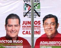 Destruyen Propaganda Política Candidatos PRI-PVEM  Edil-Diputado Calkiní. 24jun2012.