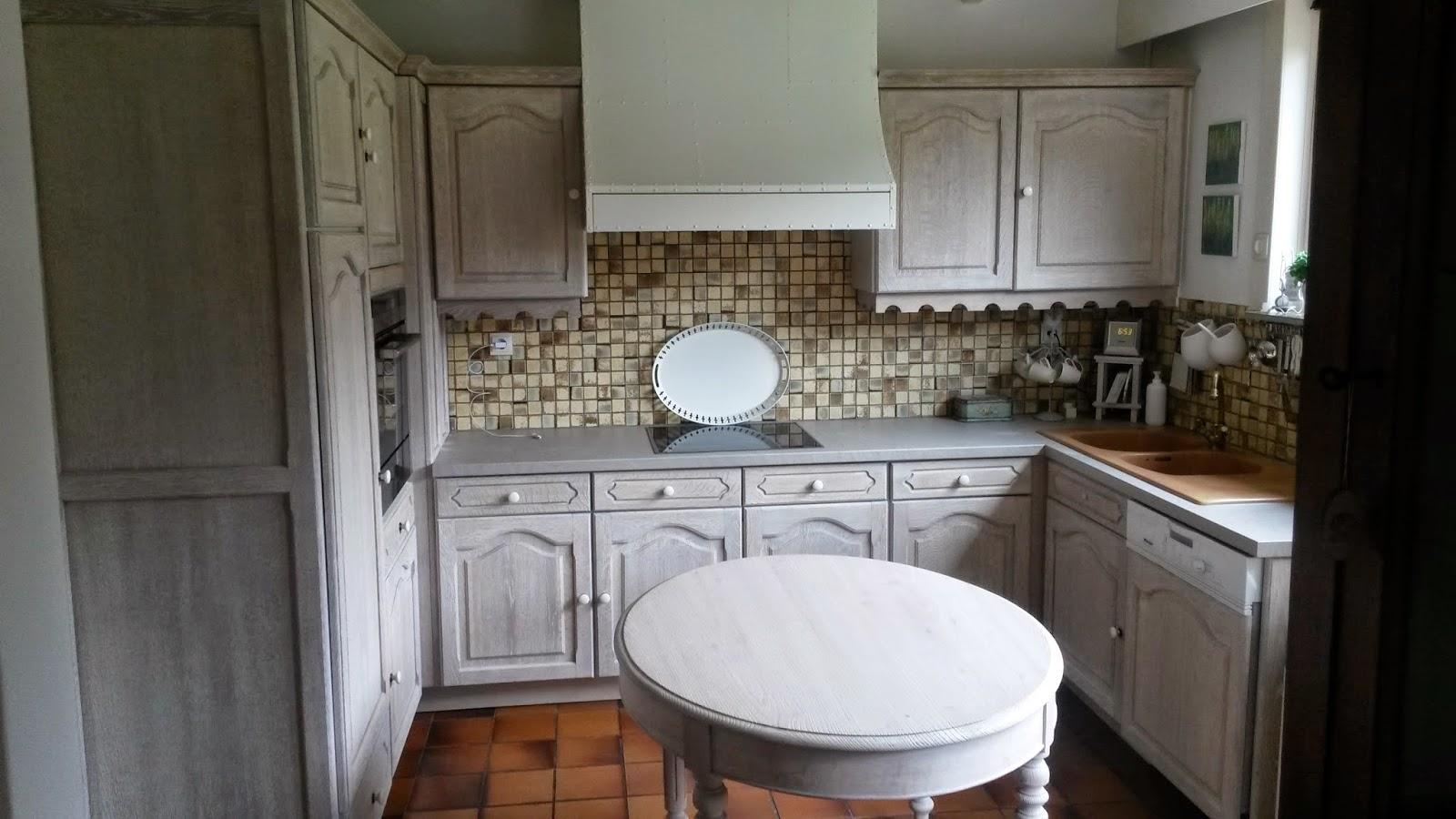 Eiken Keuken Schilderen : Renovatie van eiken keukens: Renovatie van een eiken keuken te Lauwe