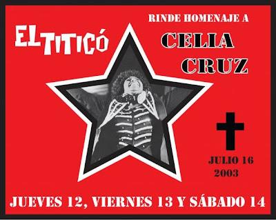► Homenaje A Celia Cruz en el Titico Gril
