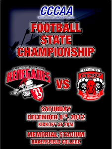 2012 CCCAA Football State Championship Game: CCSF at Bakersfield