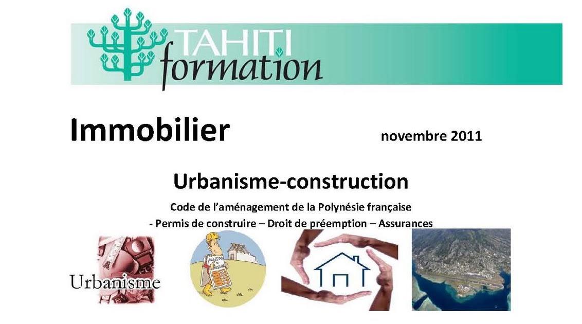 Veille juridique french polynesia formation en - Le droit de preemption ...